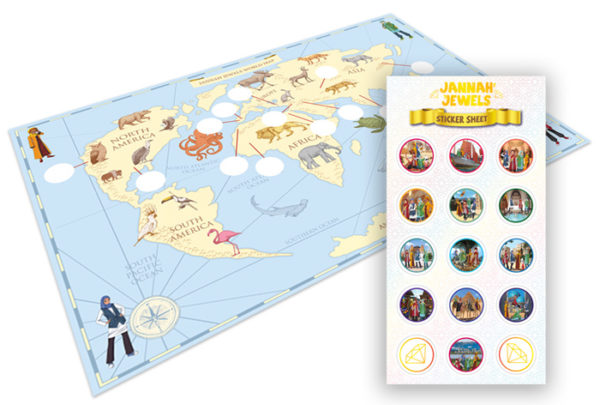 Jannah Jewels Map & Stickers